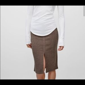 Wilfred free alanna skirt ribbed sz s brown